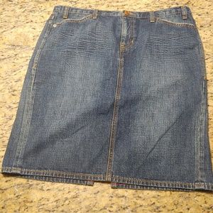 Like new Limited edition gap jeans denim skirt